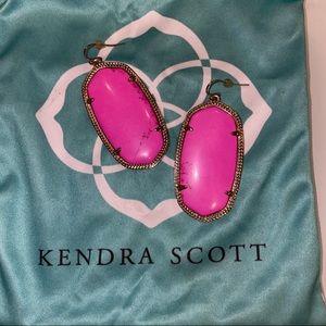 Beautiful hot pink Kendra Scott Earrings
